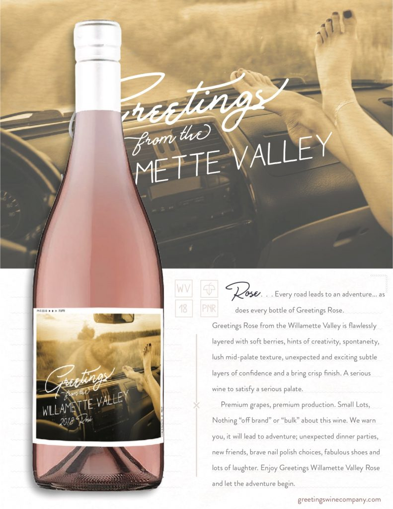 greetings rose wine