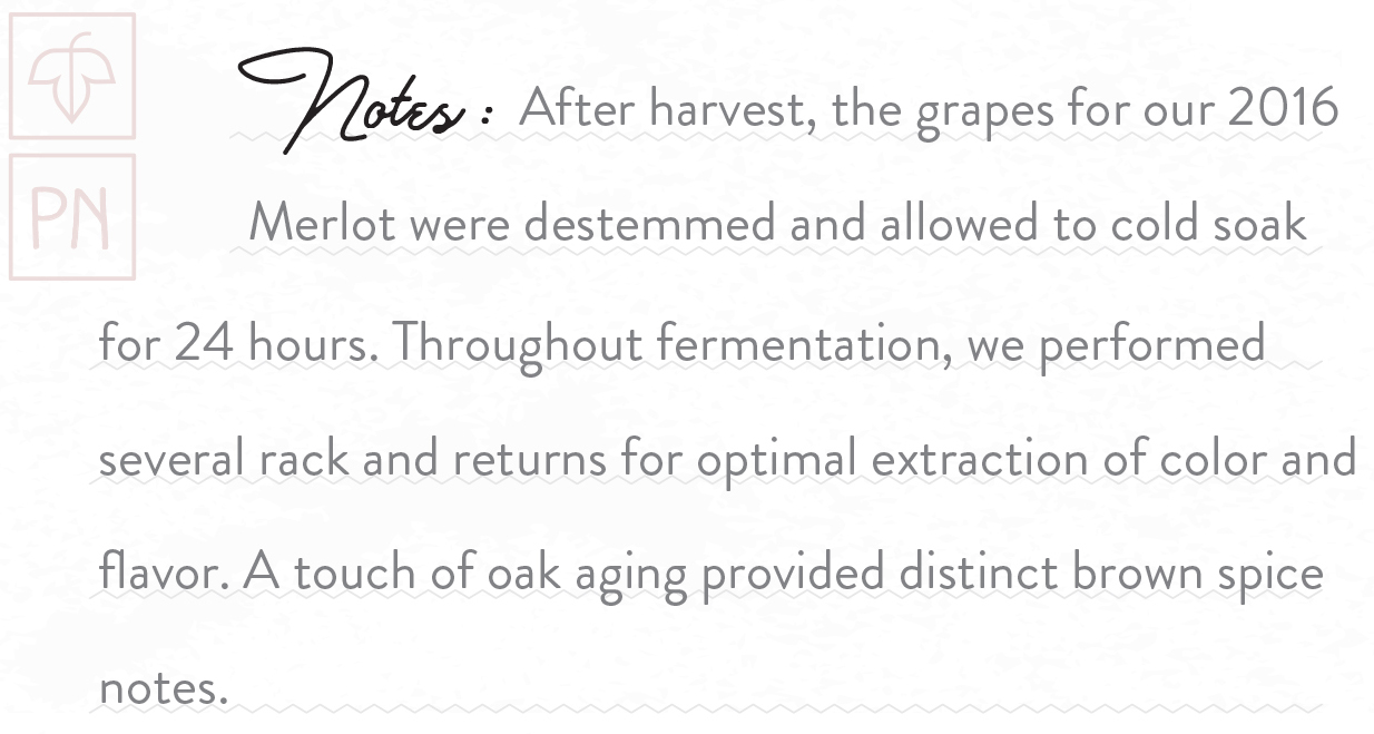 Greetings Vintage Merlot 2016 notes